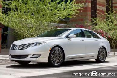 Insurance rates Lincoln MKZ in Chicago